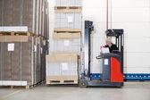 Photo Worker In Forklift Examining Stockpile