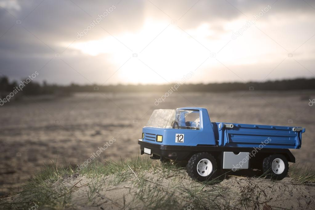 Abandoned toy truck