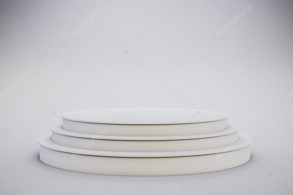3d template of blank empty podium stage stock photo