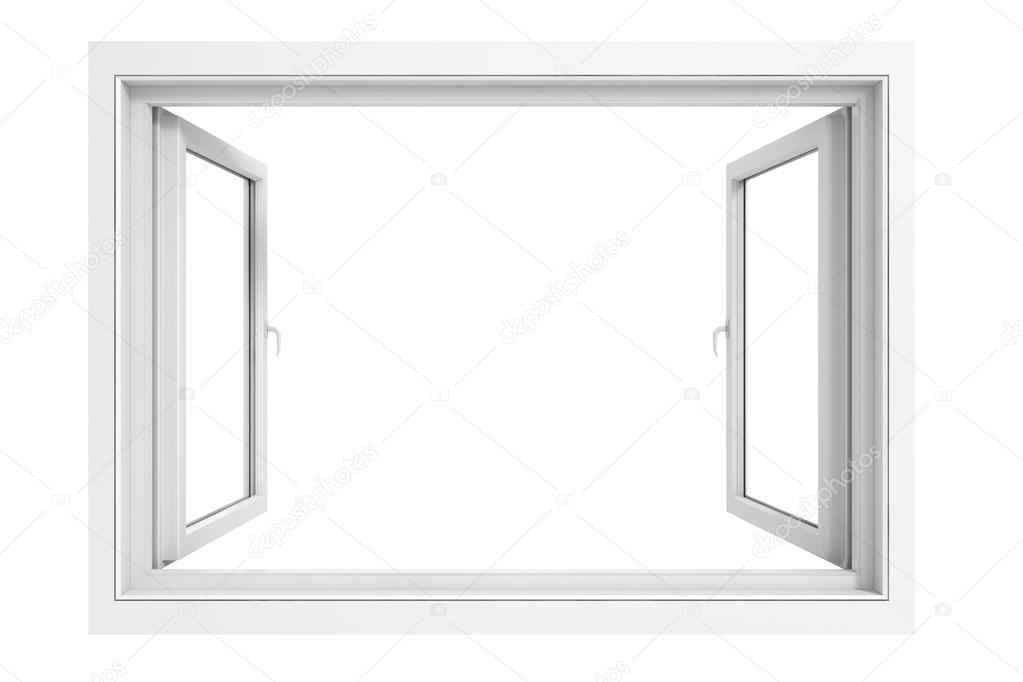 marco de la ventana 3D sobre fondo blanco — Fotos de Stock ...
