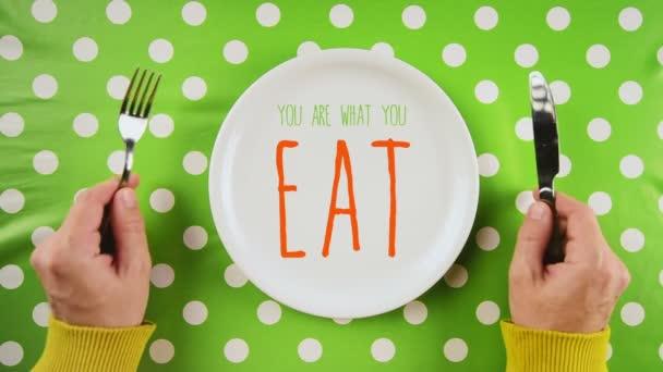 Ty jsi to, co jíš, diety koncepce