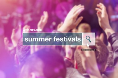 Web search bar glossary term - summer festivals