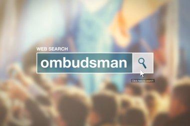 Web search bar glossary term - ombudsman