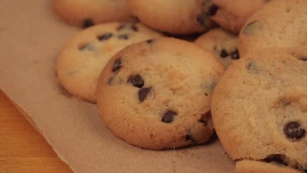 Chutné domácí amerických sušenek, dolly jezdce v 4k