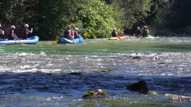 Rafting at Bohinj lake, Slovenia