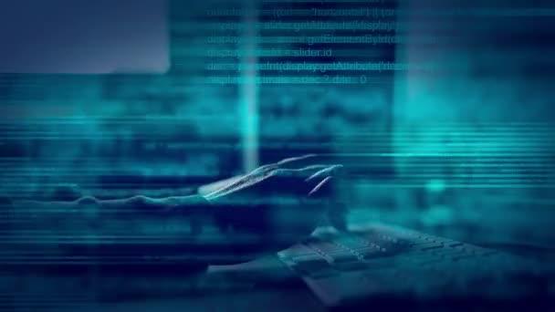 Abstraktní animovaný skript programování kódu na počítači