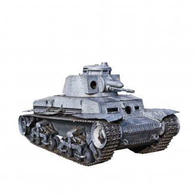 Panzer 35t, German Light Tank was used mainly by Nazi Germany during World War II. Isolated on White background. stock vector