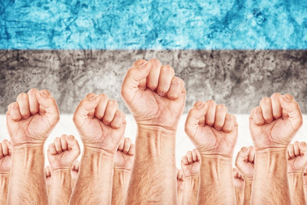 Estonia Labor movement, workers union strike