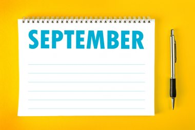 September Calendar Blank Page