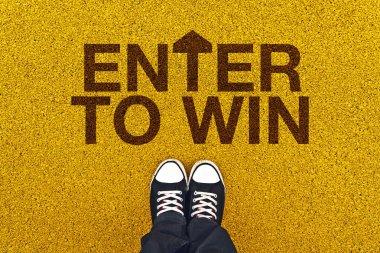 Enter To Win on Asphalt Road