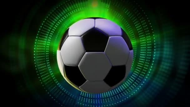 Rotující fotbalový míč jako 3d animovaný sport Motion grafika pozadí v rozlišení full Hd 1920 x 1080