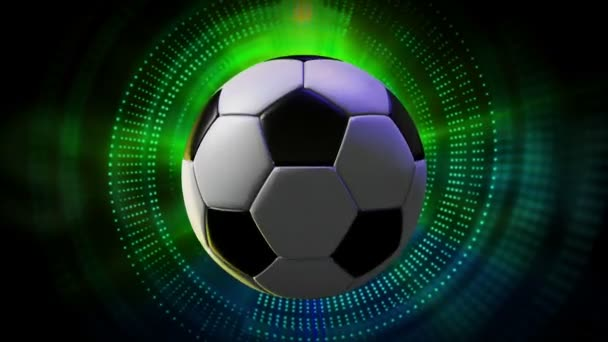 Rotierende Soccer Ball als 3d animierte Sport Motion Graphics Hintergrund in full-Hd 1920 x 1080