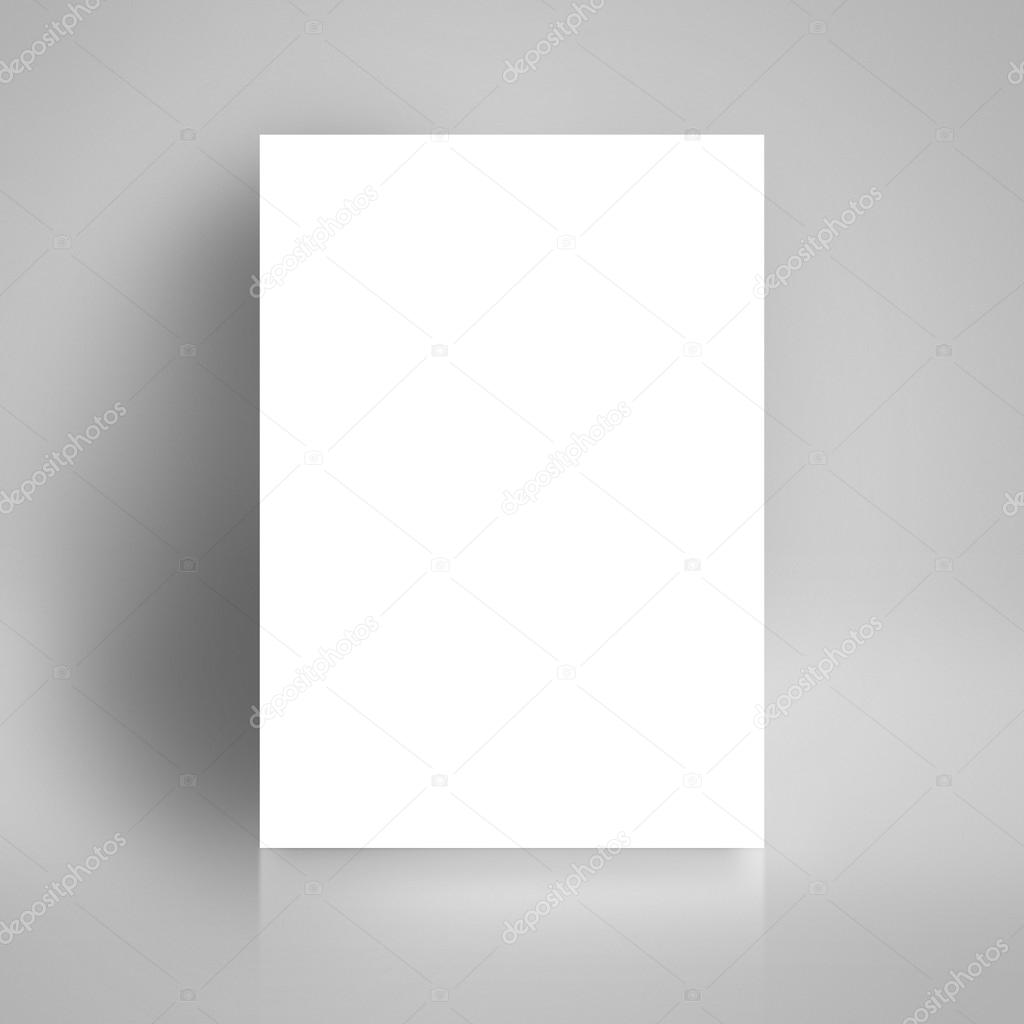 Blank White Paper Poster Leaning On Studio Room Wall As Copy Space For Design And Template Mock Up Adding Your Text Photo By Stevanovicigor