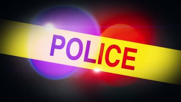 Blikající policejní obkroužení světlo Bokeh na policejní služby vozidel