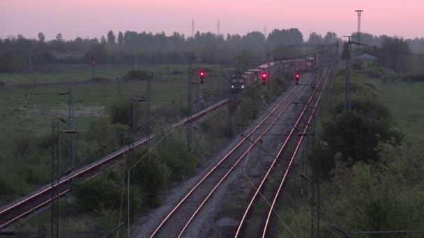Cargo Train Transportation on Railways