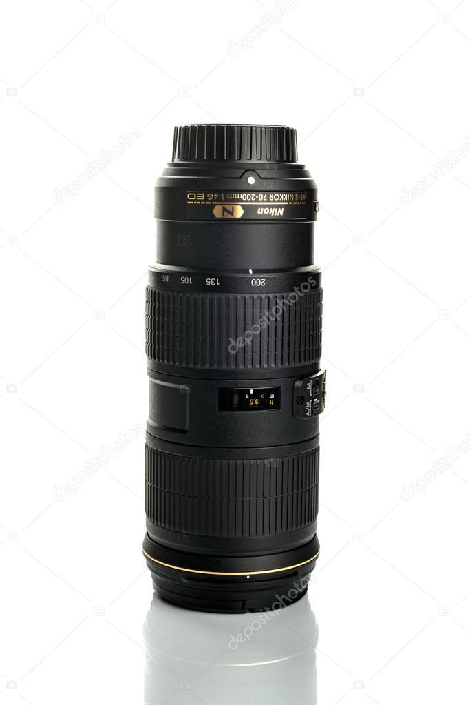 Nikon Nikkor Tele 70-200 f4 G Objektiv — Redaktionelles Stockfoto ...