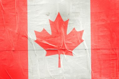 Canada Flag Print on Grunge Poster Paper