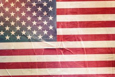 USA Flag Print on Grunge Poster Paper