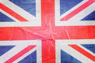 Great Britain Flag Print on Grunge Poster Paper