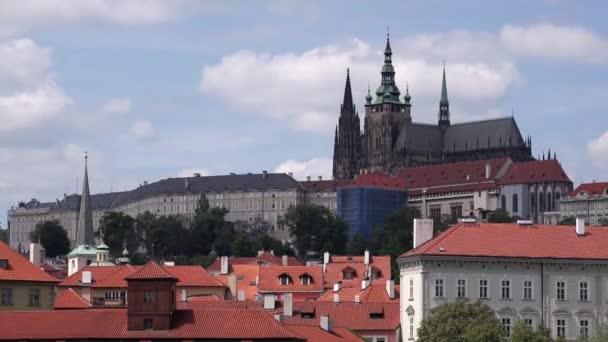 Pražský hrad Hradčany na zamračený den