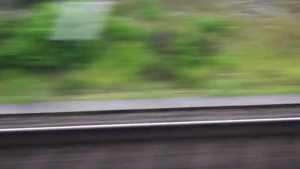 Cestování vlakem, zobrazit přes okno