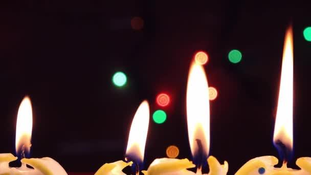 Svíčky světlo, romantická dovolená pozadí