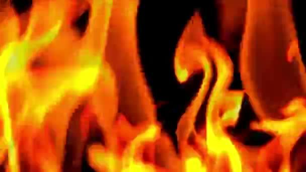Plameny hořící oheň