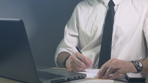 Business calculations, businessman accountant auditing and working in office