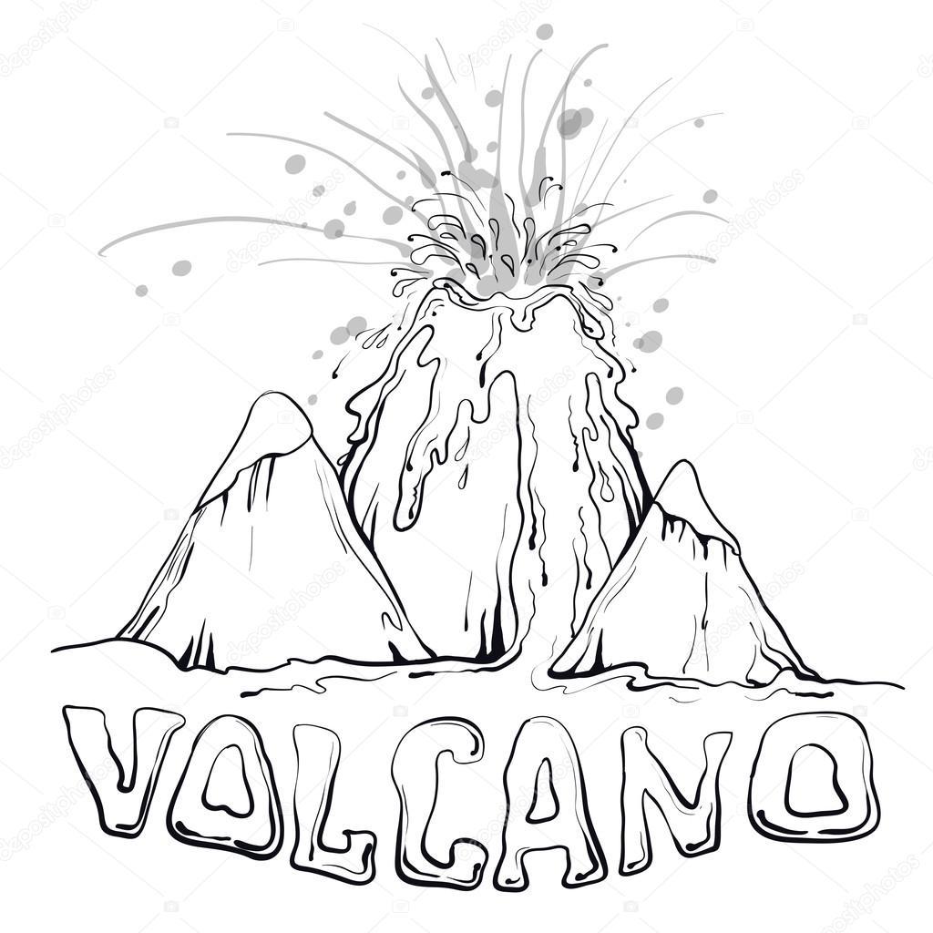 poster vulkaan uitbarsting stockvector 169 aglia83 102384058