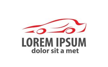 Car abstract lines vector logo design concept.