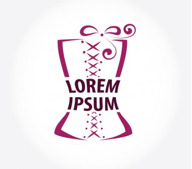 corset logo design template.