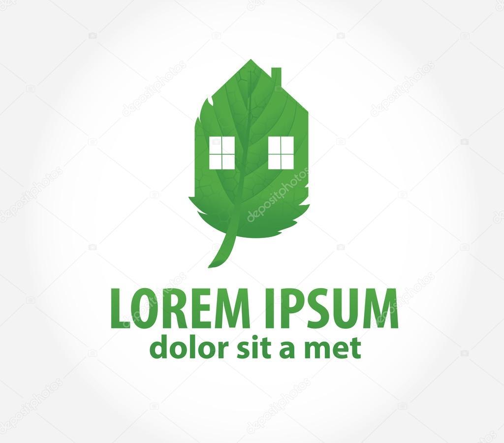 green house eco symbol