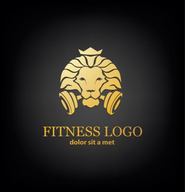 Lion Sport, Fitness Logo Vector Template