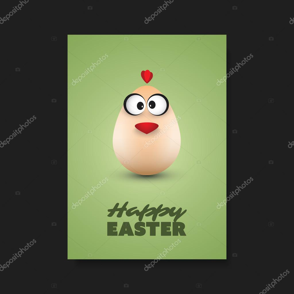 Easter greeting card flyer cover background template design with easter greeting card flyer cover background template design with funny chicken egg stock kristyandbryce Choice Image