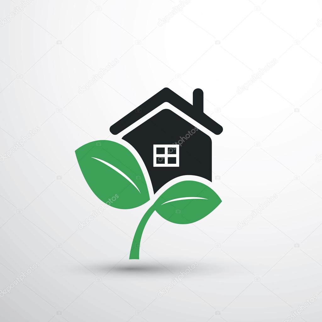eco icon haus zuhause stockvektor bagotaj 109607470. Black Bedroom Furniture Sets. Home Design Ideas