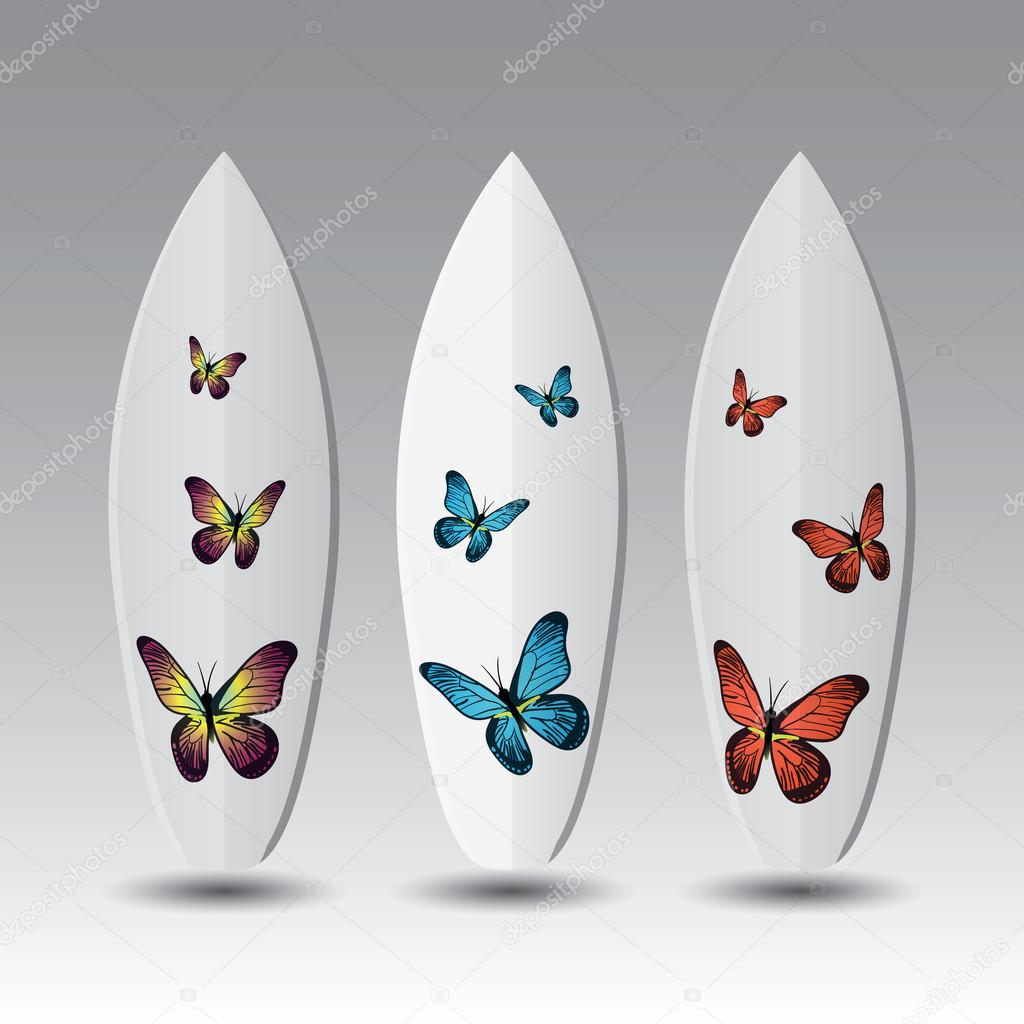 Vector Surfboard Design Templates — Stock Vector © bagotaj #111084094