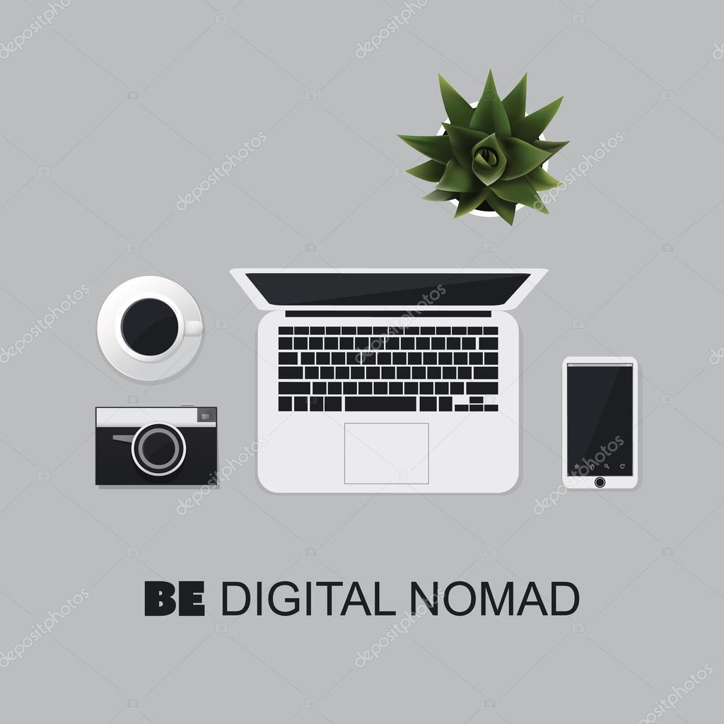Werden Sie ein digitaler Nomade - inspirierend Zitat, Weisheit ...