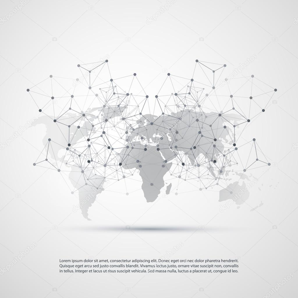 Cloud computing and networks with world map abstract global abstract black and white modern cloud computing and global digital network connections it or technology concept background or cover creative design element gumiabroncs Image collections