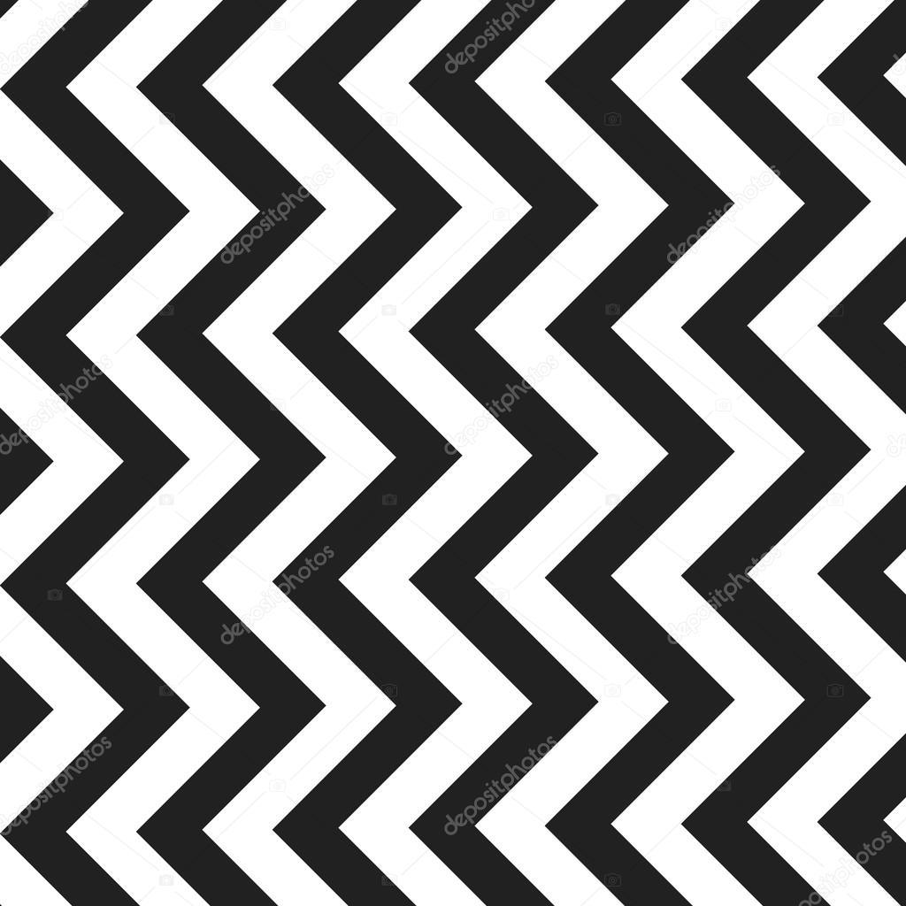Schwarz / weiß Zick Zack Linien-Muster - Hintergrund-Design ...