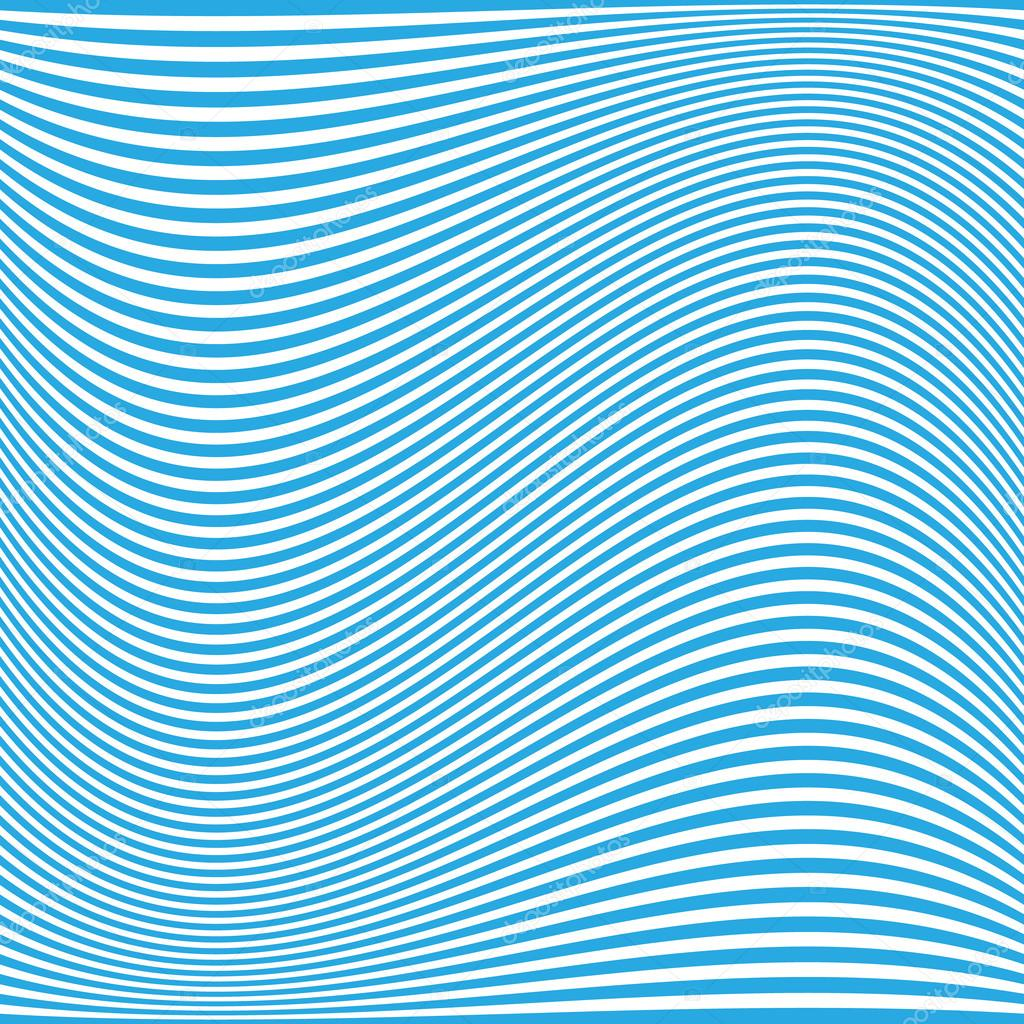 blue wavy lines pattern background design � stock vector