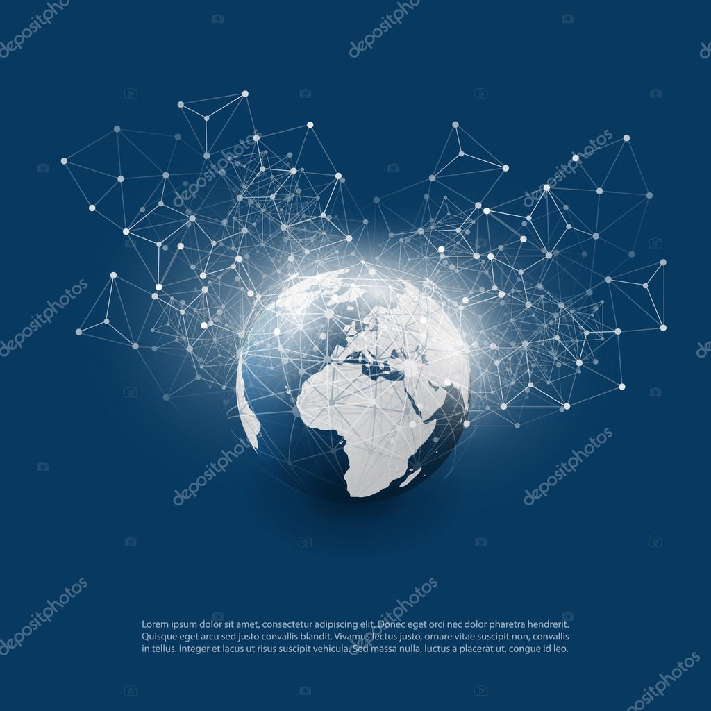 Abstract Cloud Computing and Global Network Connections Concept ...