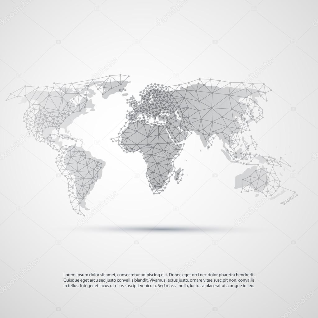 Cloud computing and networks technology concept with world map abstract black and white modern cloud computing and global digital network connections it or technology concept illustration in editable vector format gumiabroncs Image collections