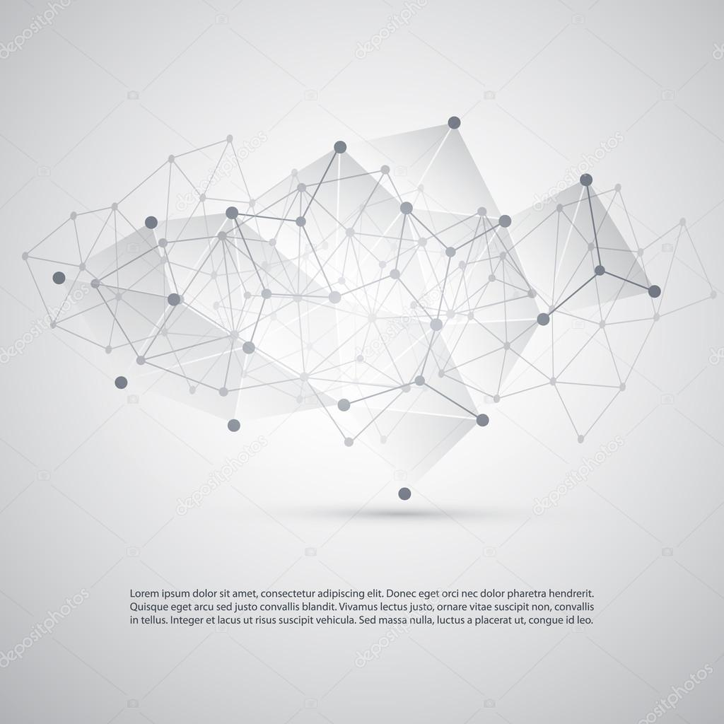 Connections - Molecular, Global Business Network Design - Abstract Mesh Background