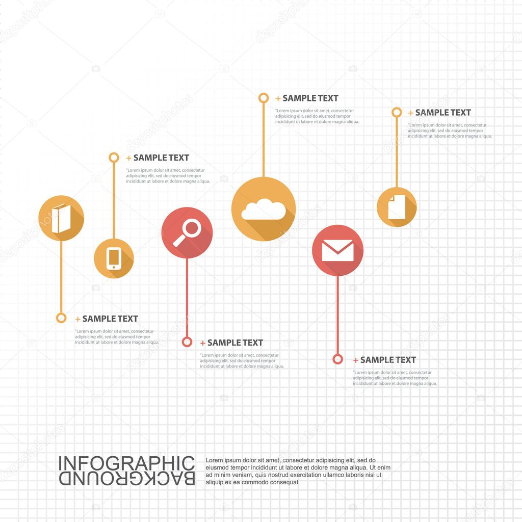 Timeline Infographic Design with Your Text and Icons