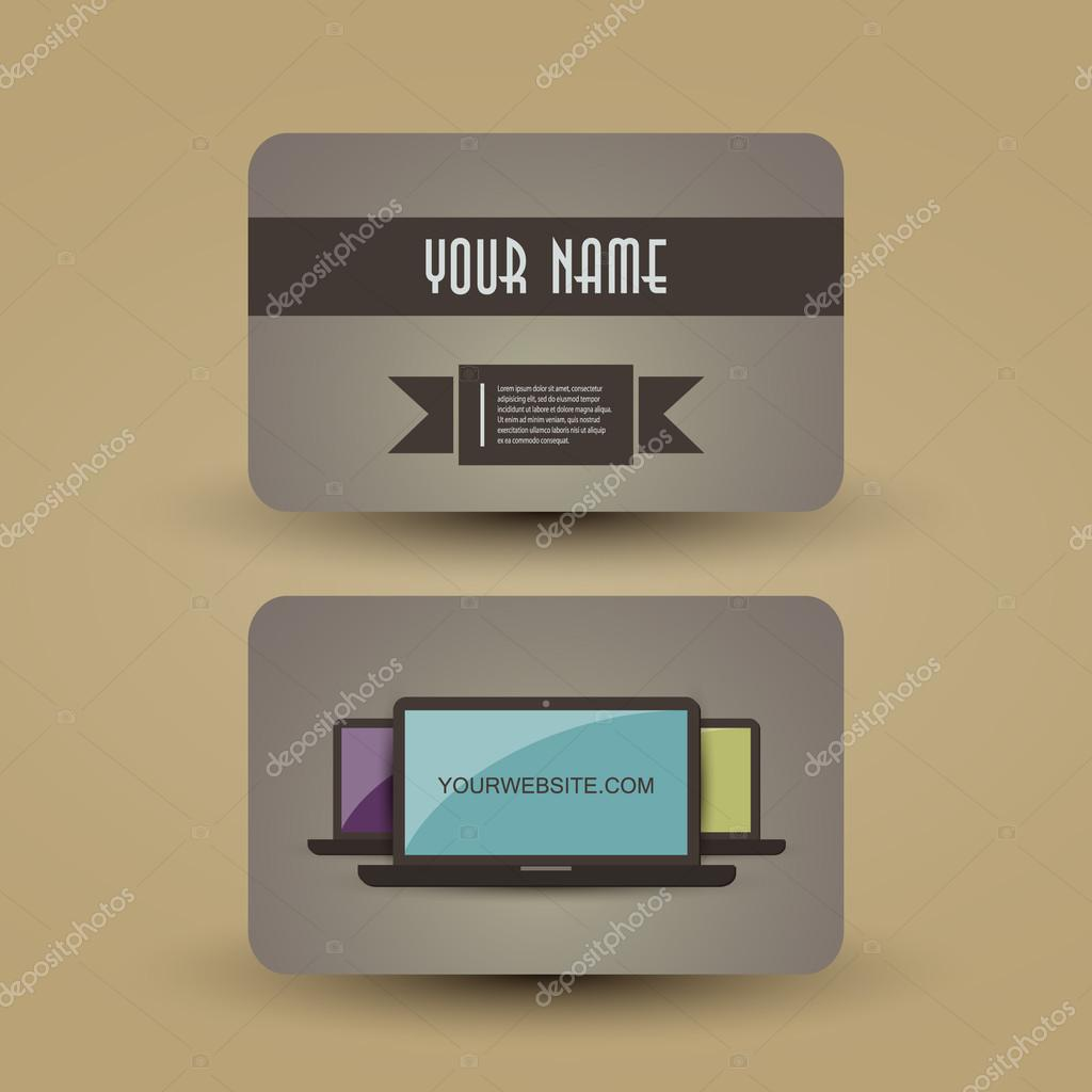 Retro Business Card Template — Stock Vector © bagotaj #52740919