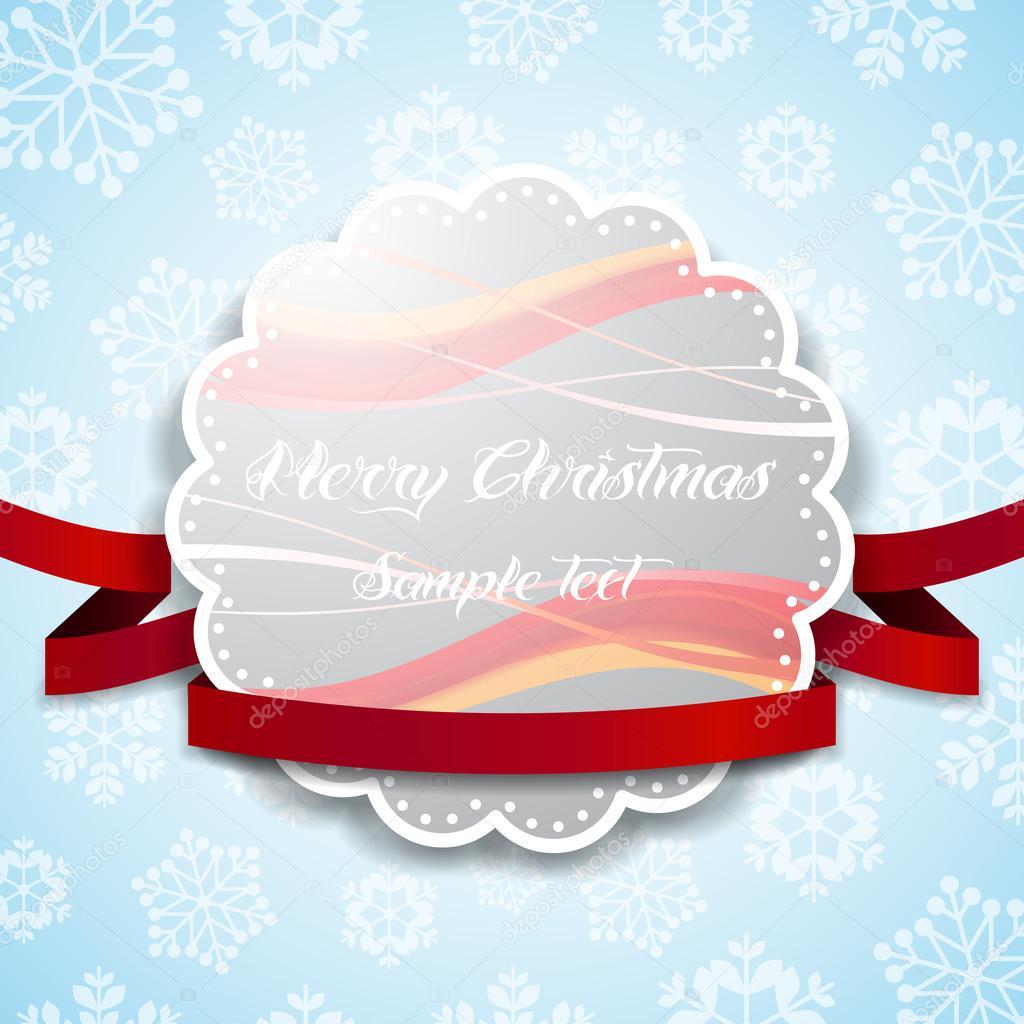 Weihnachts-Etikett oder Hintergrund-Vorlage — Stockvektor © bagotaj ...