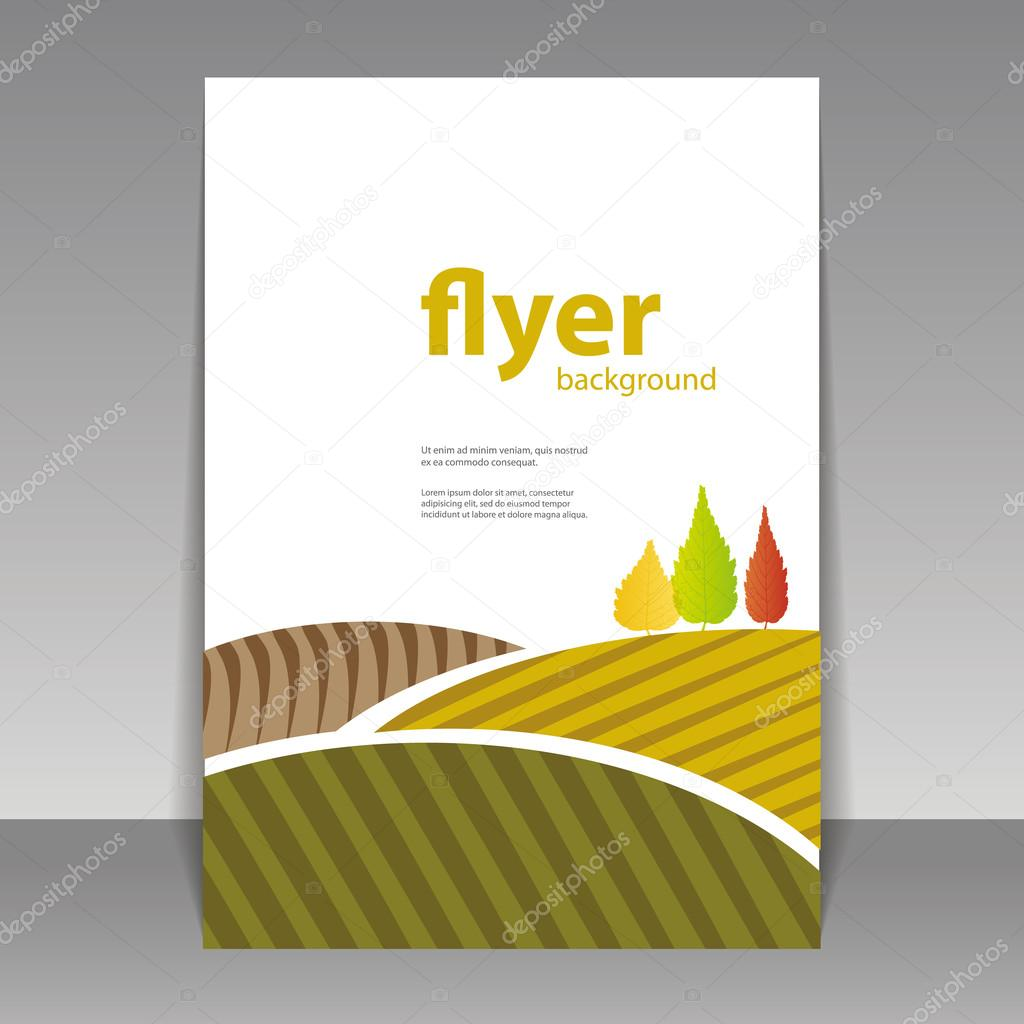 Book Cover Template Eps : Flyer or cover design autumn landscape — stock vector