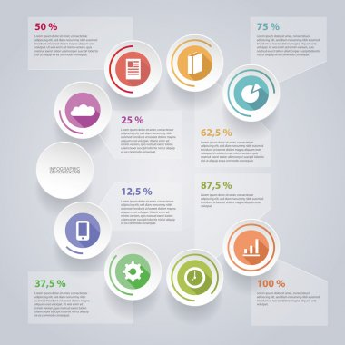 Circular Infographic Design with Pie Chart