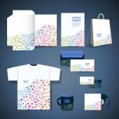 Stationery Template, Corporate Image Design with Dotted Pattern