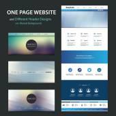 Fotografie Jednu stránku Web šablony a vzory různých záhlaví s rozmazané pozadí